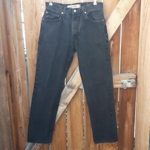 Levis vintage 505 mens black jeans  sz 30